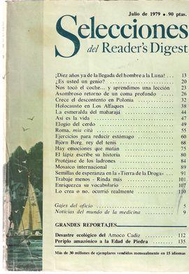 SELECCIONES DEL READER' S DIGEST. JULIO 1979/ DIEZ AÑOS-HOMBRE A LA LUNA/ DESCONTENTO EN POLONIA/ HOLOCAUSTO EN LOS ALFAQUES/ MOSAICO INTERNACIONAL/ E