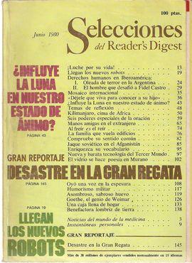 SELECCIONES DEL READER'S DIGEST. JUNIO 1980/ LOS NUEVOS ROBOTS/ DERECHOS HUMANOS-IBEROAMÉRICA/KILIMANJARO/ JAQUE SOVIÉTICO-AFGANISTÁN/ GOETHE/...