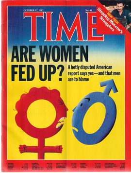 TIME. N. 41, OCTOBER 12, 1987/ ARE WOMEN FED UP?, A HOTLY DISPUTED AMERICAN REPORT SAYS YES - AND THAT MEN ARE TO BLAME/ STOPPING MOSCOW'S SMUGGLERS/