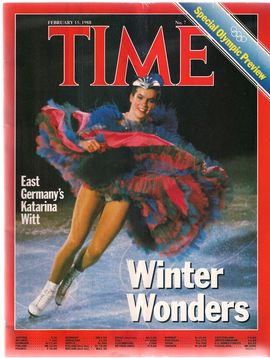 TIME. N. 7, FEBRUARY 15, 1988/ WINTER WONDERS. EAST GERMANY'S KATARINA WITT. SPECIAL OLYMPIC PREVIEW/...