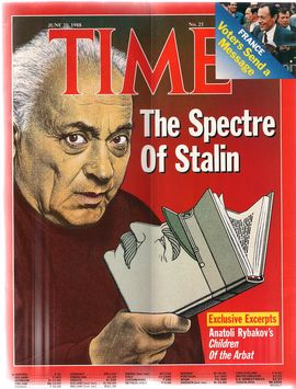 TIME. N. 25, JUNE 20, 1988/ FRANCE. VOTERS SEND A MESSAGE/ THE SPECTRE OF STALIN/