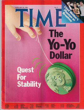TIME. N. 3, JANUARY 18, 1988/ THE YO-YO DOLLAR. QUEST FOR STABILITY/ LLOYD WBBER'S PHANTOM ON BROADWAY