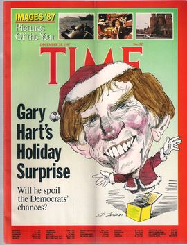 TIME, N. 52, DECEMBER 28, 1987/ GARY HART'S HOLIDAY SURPRISE. WILL HE SPOIL THE DEMOCRATS' CHANCES?/ IMAGES' 87. PICTURES OF THE YEAR/...