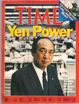 TIME. N. 32, AUGUST 8, 1988/ YEN POWER. YOSHIHISA TABUCHI OF JAPAN'S NOMURA SECURITIES