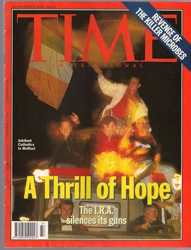 TIME. N. 37, SEPTEM. 12, 1994/ A THRILL OF HOPE. THE I.R.A. SILENCES ITS GUNS/ REVENGE OF THE KILLER MICROBES/...