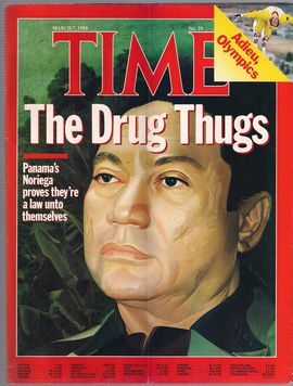 TIME. N. 10, MARCH 7, 1988/ THE DRUG THUGS/ PANAMA'S NORIEGA PROVES THEY'RE A LAW UNTO THEMSELVES/ ADIEU, OLYMPICS/...