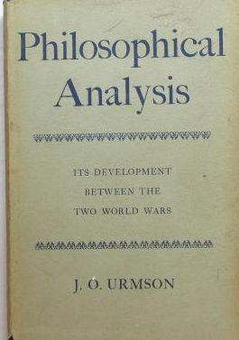 PHILOSOPHICAL ANALYSIS ITS DEVELOPMENT BETWEEN THE TWO WORLD WARS
