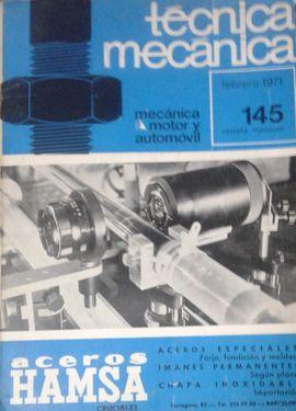 TECNICA MECANICA.MECANICA,MOTORES,AUTOMOVILES.ED CEAC..1971.Nº 145.FEBRERO
