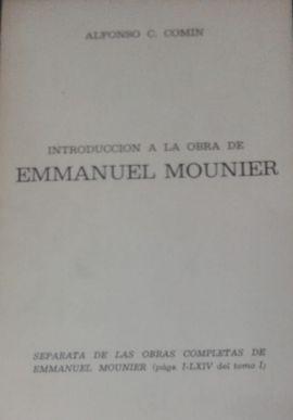 INTRODUCCIÓN A LA OBRA DE EMMANUEL MOUNIER