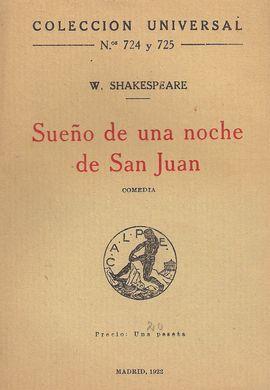 SUEÑO DE UNA NOCHE DE SAN JUAN