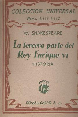 LA TERCERA PARTE DEL REY ENRIQUE VI