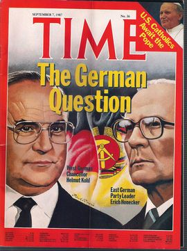 TIME. N. 36, SEPTEMBER 7, 1987/ THE GERMAN QUESTION