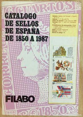 CATÁLOGO DE SELLOS DE ESPAÑA. DE 1850 A 1987.