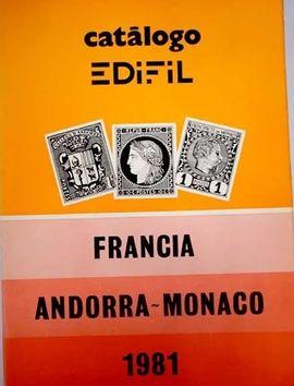 CATÁLOGO EDIFIL FRANCIA, ANDORRA-MONACO, 1981