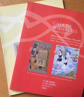 LOTE DE CATALOGOS DE CASA DE SUBHASTES DE BARCELONA (LIBROS Y MANUSCRITOS)
