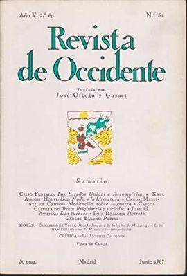 REVISTA DE OCCIDENTE. JUNIO 1967. N�.
