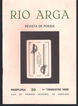 REVISTA DE POESIA:  RIO ARGA. PAMPLONA 89 1º TRIMESTRE 1999