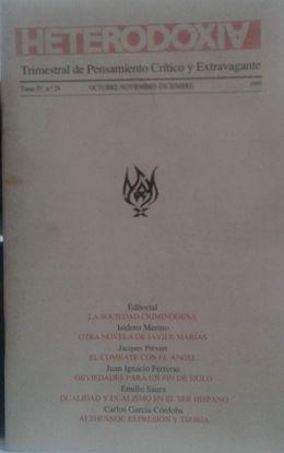 REVISTA: HETERODOXIA TOMO IV Nº 24 OCTUBRE-NOVIEMBRE-DICIEMBRE 1995
