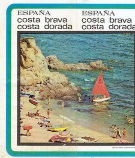 FOLLETO TURÍSTICO-COSTA BRAVA-COSTA DORADA-ESPAÑA.