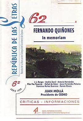 REPÚBLICA DE LAS LETRAS Nº 62. JUNIO 1999.