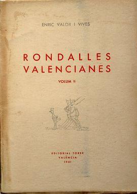 RONDALLES VALENCIANES  VOLUM III