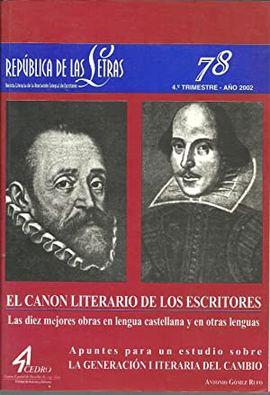 REPUBLICA DE LAS LETRAS, Nº78.: LAS DIEZ MEJORES OBRAS EN LENGUA CASTELLANA Y EN