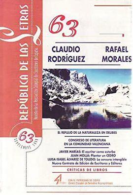 REPÚBLICA DE LAS LETRAS Nº 63. SEPTIEMBRE 1999.