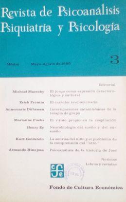 REVISTA DE PSICOANALISIS, PSIQUIATRIA Y PSICOLOGIA. Nº 3. MAYO AGOSTO 1966