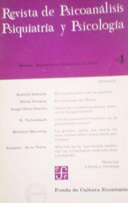 REVISTA DE PSICOANALISIS, PSIQUIATRIA Y PSICOLOGIA. Nº 4. SEPTIEMBRE DICIEMBRE 1966