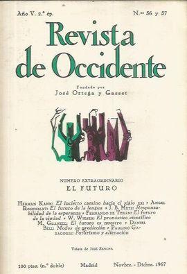 REVISTA DE OCCIDENTE. NOVBRE. - DICBRE. 1967. N� Y 57.