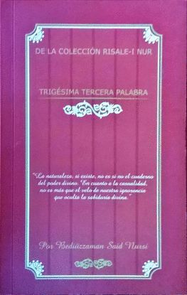 TRIGÉSIMA TERCERA PALABRA